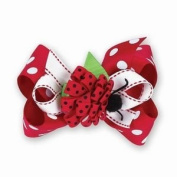 Red Little Lady Bug 3-in-1 Bow Clips