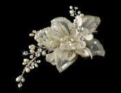 Elegant Crystal & Freshwater Pearl Bridal Comb