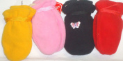 Hb148, Set of Four Finest Multicolor Mongolian Fleece Mittens for Infants Ages 3-12 Months