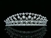 Bridal Wedding Beauty Pageant Rhinetone Crystal Tiara Crown
