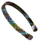 L. Erickson USA 1.3cm Ultracomfort Headband - Zipper Velvet