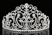 Pageant Wedding Bridal Beauty Contest Rhinestone Crystal Tiara Crown T966