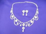 Audrey Hepburn Necklace & earrings Set Replica - Silver