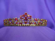Antique Gold Red Ruby Tiara
