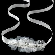 Stella Ivory Lace & Rhinestone Wedding Bridal Sash or Headband Tiara