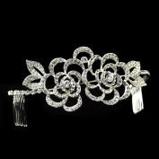 Mariela Sparkling Flower Rhinestone Covered Hair Comb Wedding Bridal Tiara Headband