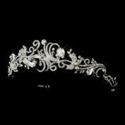 Francesca Antique Rhinestone & Crystal Swirl Wedding Bridal Tiara Headband