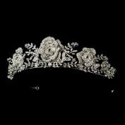 Bertha Antique Rhinestone Flowers & Leaves Wedding Bridal Tiara Headband