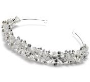 USABride. Crystal & Rhinestone Cluster Bridal Headband Wedding Tiara 3069