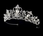 Frederique Silver Plated Royal Wedding Bridal Tiara