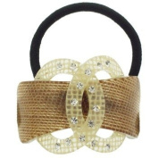 Karina - French Couture Double Loop w/Crystals Ponytail Holder #K10131X1