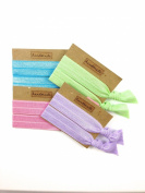 Elastic Hair Tie & Bracelet in One SOLID colour Pastel MIX 8PC