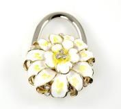 """. Foldable Handbag Holder White """"Flower Bloom"""" Purse Hook"""