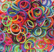 Refill Bands Pack of 600 Assorted Scented Rubber Bands with 25 S-Clips