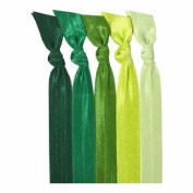 Emi-Jay Hair Tie Collection - Green Ombre 5 pack