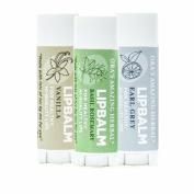 Ora's Amazing Herbal Lip Balm Earl Grey/Vanilla/Basil Rosemary 3 Pak