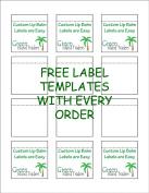 Customizable Lip Balm Labels | 20 Sheets | 240 Labels