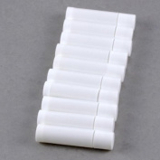 100 White Empty Lip Balm Tubes Containers