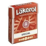 Lakerol Sugar Free and Calorie Free Pastilles, Special Menthol Liqorice Flavoured, 1 box