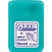 Oral Choice 3332-B Waxed Flat Mint Ribbon Dental Floss 12 pcs