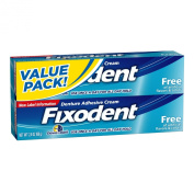 Fixodent Complete Free Denture Adhesive Cream Twin Pack 140ml, 0.000 Conversion not found