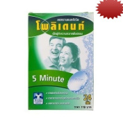 Polident Fresh Active 5 Minute Denture Cleanser