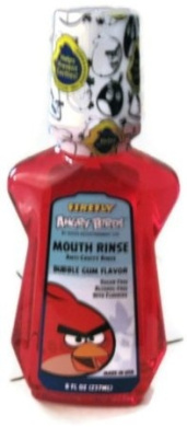 Firefly Angry Birds Mouth Rinse Bubble Gum Flavour