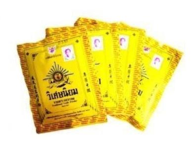 Viset-Niyom Thai Traditional Tooth Teeth Gum Fresh Powder 40g. (4 Sachets)