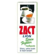 Zact Lion Stain Fighter Toothpaste For Tea & Coffee Drinkers White Teeth