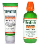 TheraBreath Fresh Breath Toothpaste and Oral Rinse Set