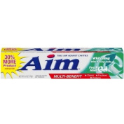 Aim Whitening Anticavity Fluoride Toothpaste, with Baking Soda, Mint Gel, 180 ml