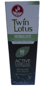 Twin Lotus Herbaliste Active Charcoal Toothpaste Remove Bad Breath Thai Herbal Extract 150 Gramme