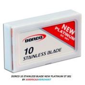 Dorco ST301 Platinum Extra Double Edge Razor Blades - 100 Ct