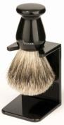 Edwin Jagger 3EJ946LDS Handmade Imitation Ebony Shaving Brush with Drip Stand - Large
