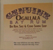 Two (2) Genuine Ogallala Bay Rum, Bay Rum & Sage and Cedar Shaving Soap - Each Puck 130ml