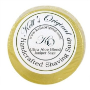 Juniper Sage Soap Cake 80ml shave soap by Kell's Original