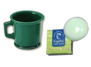 Marvy Green Rubber Shaving Mug With Kinglsey Soap