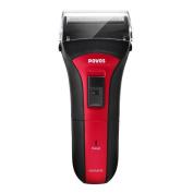 POVOS PS2203 Washable Electric Single-Blade Shaver Razor - Red