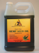 Hemp Seed Oil Organic Virgin Carrier Cold Pressed Unrefined Pure 3310ml, 7 LB, 1 gal