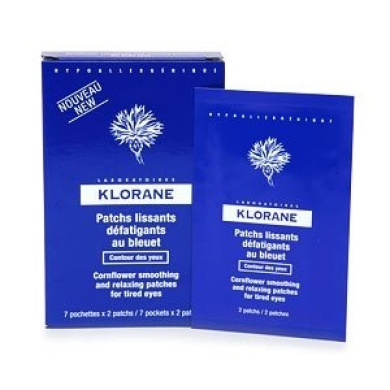 Klorane Cornflower Smoothing and Relaxing Patches for Tired Eyes 7 pockets (2 patches each)