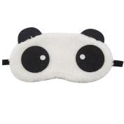 Rosallini Black White Panda Design Mouth Eye Mask for Children