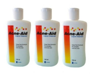 3 x Stiefel Acne Aid Liquid Cleanser for Pimples & Oily Skin 100 ml.