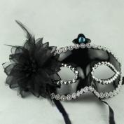 Black Italian Princess Mask Rose Flower Masquerade Mask By U-beauty