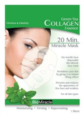 BioMiracle 20 Min. Rejuvenating Miracle Mask - Green Tea: Firmness & Elasticity (Single Sheet)
