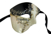 Venetian Mask Exclusive w/ Black Musical Half Face Mask Men's Masquerade Mask