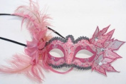 Feathers and Leaves Collection Masquerade Mask - Pink