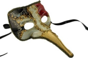 Laser Cut Venetian Halloween Masquerade Mask Costume Extravagant and Elegant Finely Detailed Mediaeval Doctor Inspired