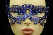Laser Cut Venetian Masquerade Mask Costume Lover Swan Inspire Designs - Blue