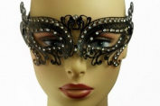 NEW Princess Classic Venetian Design Laser Cut Masquerade Mask - Elegantly Detailed w/ Gems