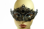 NEW Princess Venetian Design Laser Cut Masquerade Mask - Elegantly Detailed w/ Gems